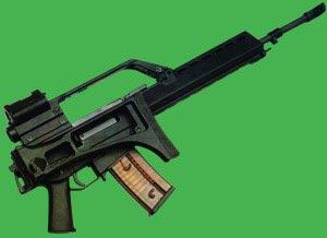 Штурмовая винтовка G.36 со сложенным прикладом
