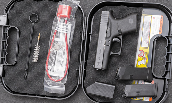 Комплектация пистолета «из коробки»
