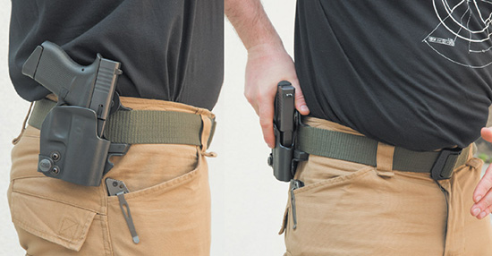 Даже карманный пистолет лучше носить в кобуре — например, от компании Front Line