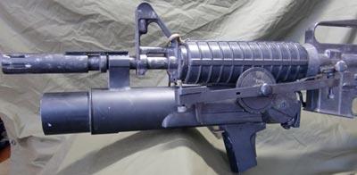 XM148 установленный на карабине ХМ177