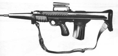 Экспериментальный английский автомат ЕМ-1 разработки Энфильдского арсенала калибра .280 (7х43 мм), 1951 год
