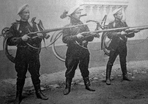 Испытания трёхлинейной винтовки обр.1891 г. первыми русскими самокатными командами