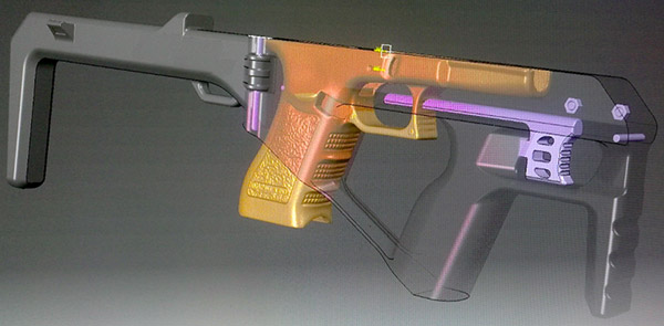 3D модель конструкции BGSW TAC BULLPUP Kit