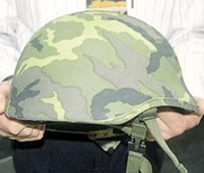 Внешний вид армейского шлема, сконструированного с применением системы NOSHA