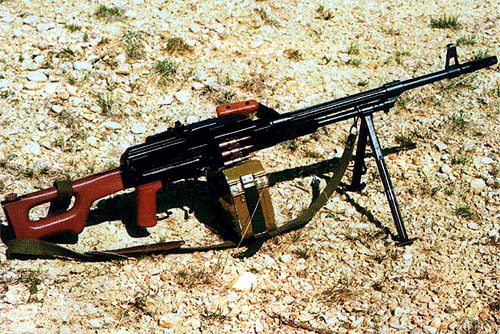 Болгарский вариант единого пулемета ПК, выпускаемый заводом «Кинтекс». Отличительными особенностями этого пулемета являются «контурный» пластиковый приклад, в котором размещена масленка, и массивный рифленый ствол