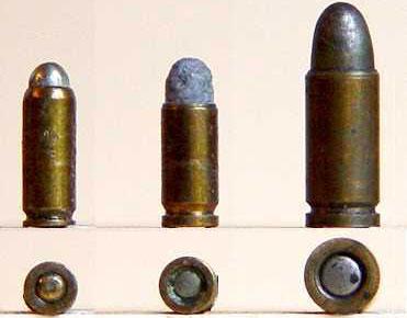 2.7 mm Kolibri, 3 mm Kolibri, 4.25 mm Liliput (слева-направо)