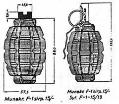 французская граната Ф-1 обр. 1915 г.