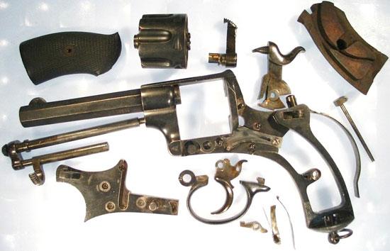 Abadie M 1878 детали револьвера
