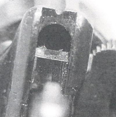 вид целика Наган обр 1895 года, производившегося в СССР