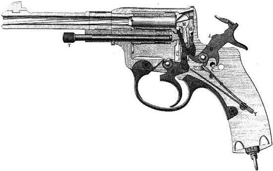 Наган обр 1895 года производства Бельгии схема устройства револьвера