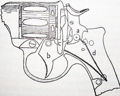 схема УСМ Nagant M 1878/1886