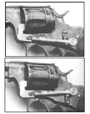 Nagant M 1884 Luxemburg Safety вид на предохранительный рычаг