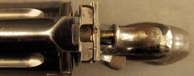 Webley «WG» Target Model образца 1896 года (вид на целик сверху)