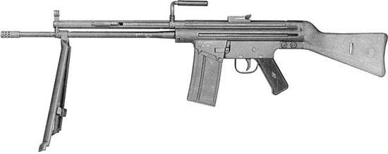 CETME modelo A под патрон 7.62x51 мм СЕТМЕ