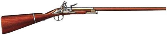 Так называемое «ружье браконьера» — разборное кремневое — включало «пистолет» с отъемным прикладом, скрываемые под одеждой, и ствол, замаскированный под дорожную палку