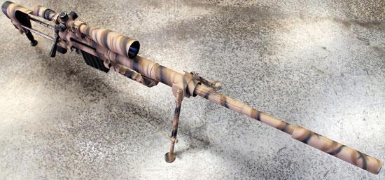 THOR M408 с установленным глушителем звука выстрела