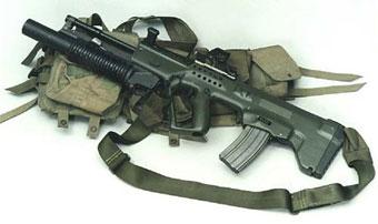 Штурмовая винтовка «Тавор» с установленным подствольным гранатометом «M-203»