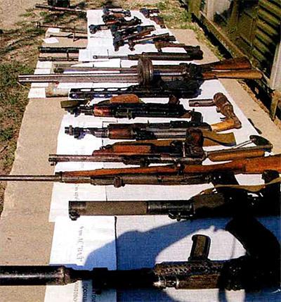 Трофейное оружие на Северном Кавказе