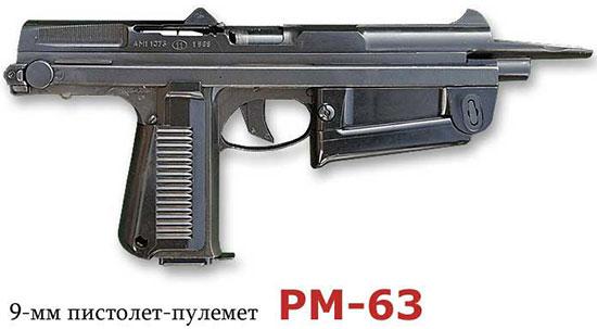 9-мм пистолет-пулемет РМ-63 (Польша)