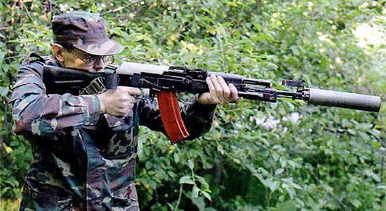 Стрельба из АК-74МБ с открытым прикладом