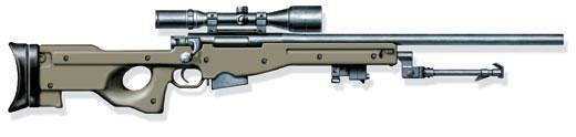 Снайперская винтовка L96A1 с сошкой, Великобритания, 1986 г.