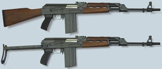Zastava M77 B1 (сверху) M77 AB1 (снизу)