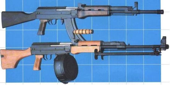 Type 81S (сверху) Type 81MGS (снизу)