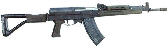 экспериментальная 5.8х42 мм штурмовая винтовка (автомат) Type 87-1 со складным прикладом