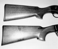 Приклады тестируемых ружей: сверху - Beretta AL391 Urika, снизу - Browning Gold Fusion
