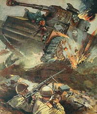 Плакат «Не так страшен «Тигр», как его малюют!». 1943 год