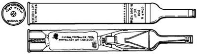 схема бронебойного снаряда M371A1 HEAT для гранатомета M67 Recoilless Rifle