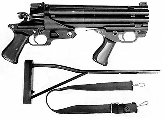 Colt Defender с отсоединенным проволочным упором