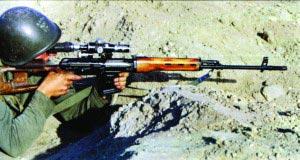 Снайпер с винтовкой СВД