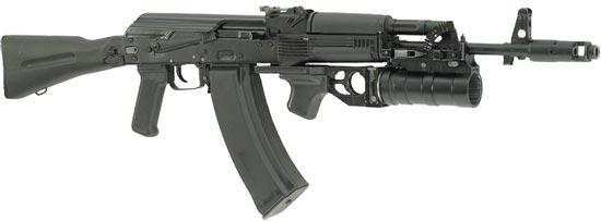 ГП-34 установленный на АК-74М с 60-ти зарядным магазином