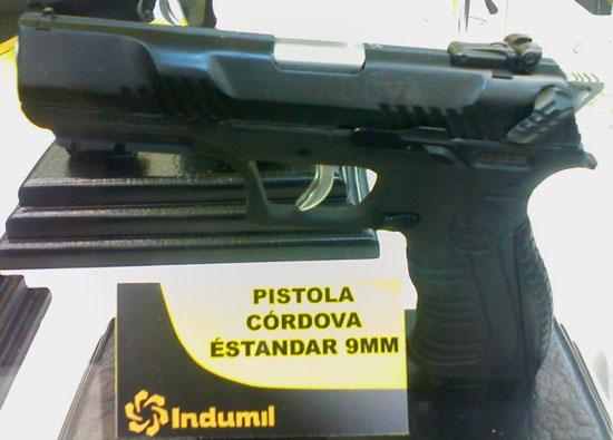 9-мм пистолет Cordova, разработанный колумбийской компанией Indumil