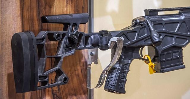 Приклад Sabatti ST-18 имеет запатентованный дизайн; изготовленный из технополимера Ryton, он отличается регулируемым гребнем