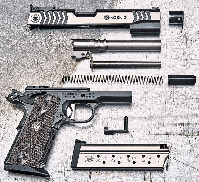 Неполная разборка пистолета Ruger Custom Shop SR1911