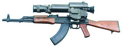 7,62-мм автомат Калашникова PMKN c ночным прицелом НСП-3