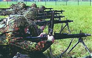Обучение пулеметчиков стрельбе из единого пулемета МG.3