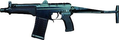 9-мм автомат СР-3 «Вихрь» с откинутым прикладом