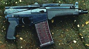 9-мм автомат СР-3 «Вихрь» со сложенным прикладом