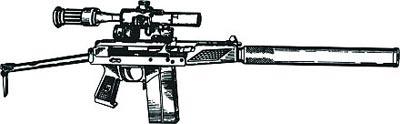 9-мм автомат 9А91 выпуска 1995 г. с прибором для бесшумно-беспламенной стрельбы и оптическим прицелом ПСО-1-1