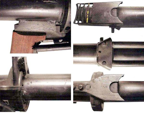 Детали экспериментального гранатомета обр. 1952 г. На гранатомете видны клейма военной приемки