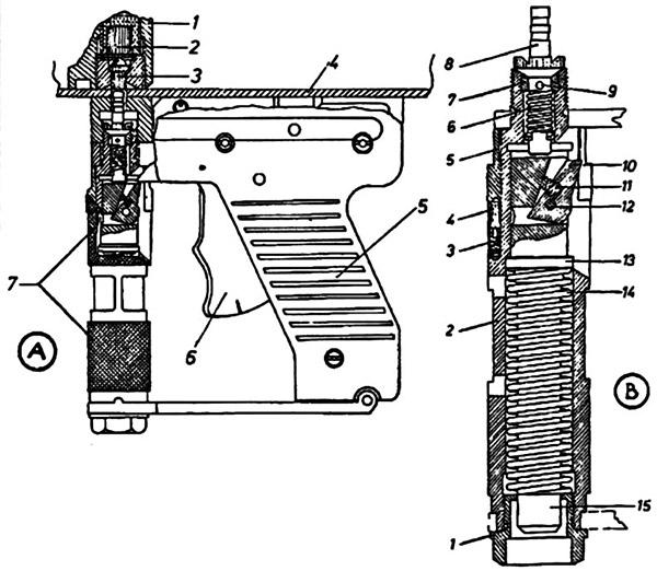 Ударно-спусковой механизм системы Цветича обр. 1957 г.