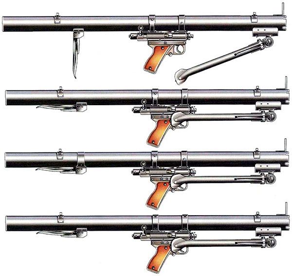 Варианты ручного противотанкового гранатомета системы Мешичека РРБ М49