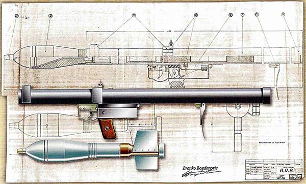 Ручной противотанковый гранатомет системы Буклиша