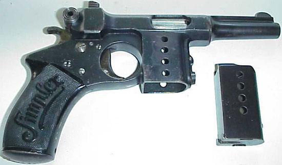 Bergmann Simplex с отсоединенным магазином на 5 патронов