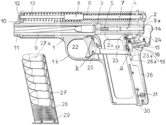 Frommer «Stop» устройство пистолета