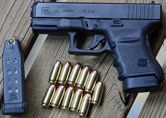 Glock 30 с магазином емкостью 10 патронов