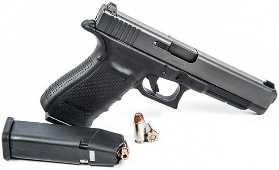 Glock 41 с используемыми боеприпасами